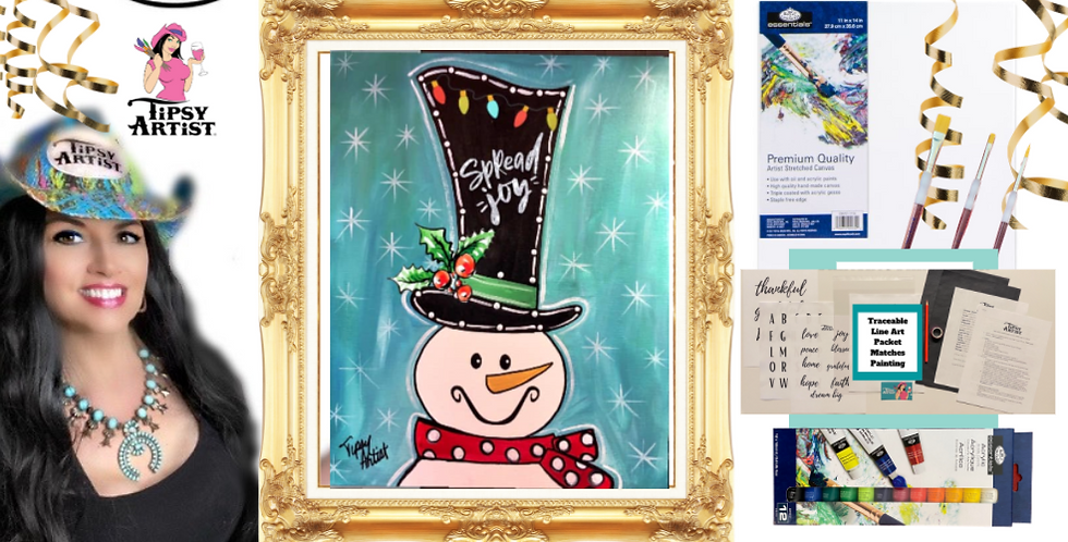 Spread Joy Snowman Painting Kit ~ Painting Party Gift