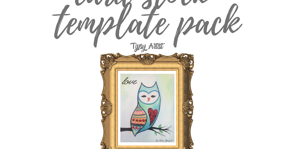 Barn Owl Template Pack with Online Video