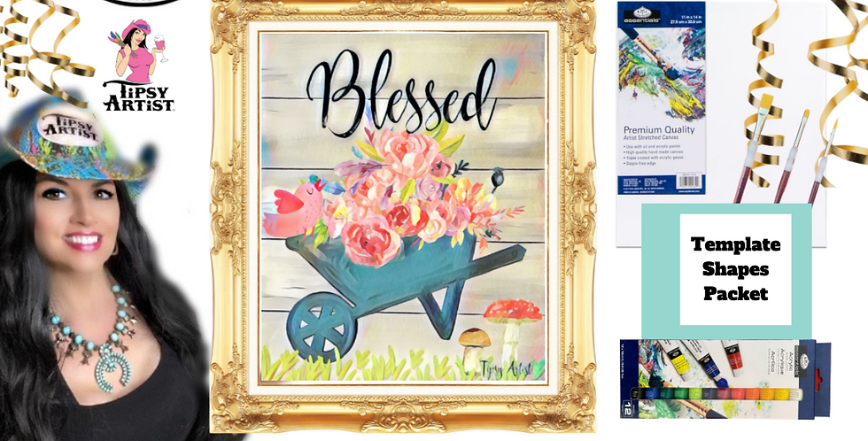 Wagon of Birdie Blessings~ Painting Party Pack