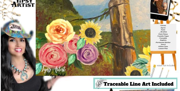 Peaceful Fence Post ~ Painting Kit