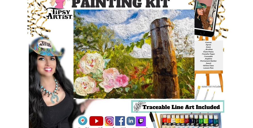 Peaceful Fence Post ~ Painting Kit