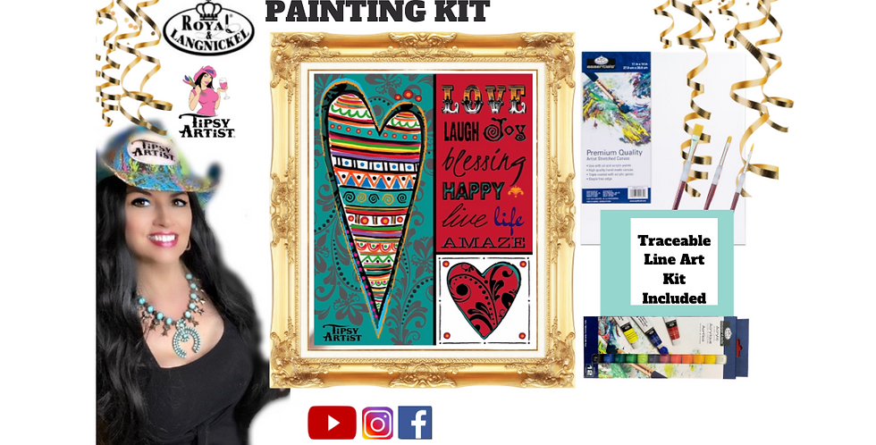 Love Live Laugh Hearts ~ Painting Kit