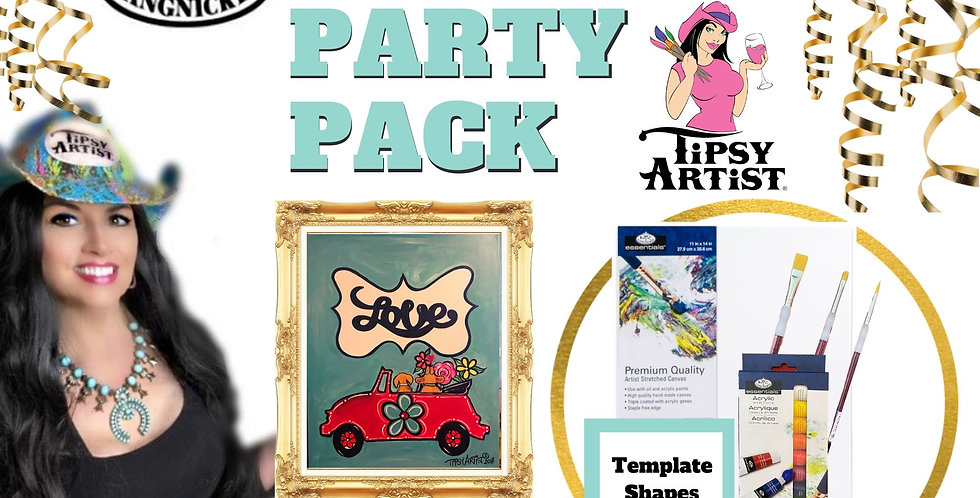 Puppy Dog Love Bug  ~ Painting Party Pack