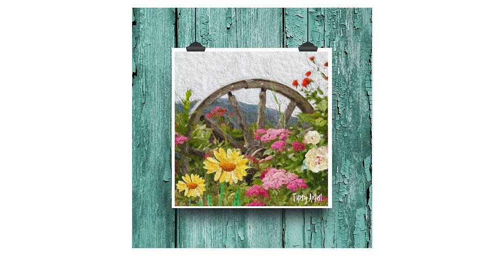 Wagon Wheel of Serenity  ~  6 x 6  Digital Print
