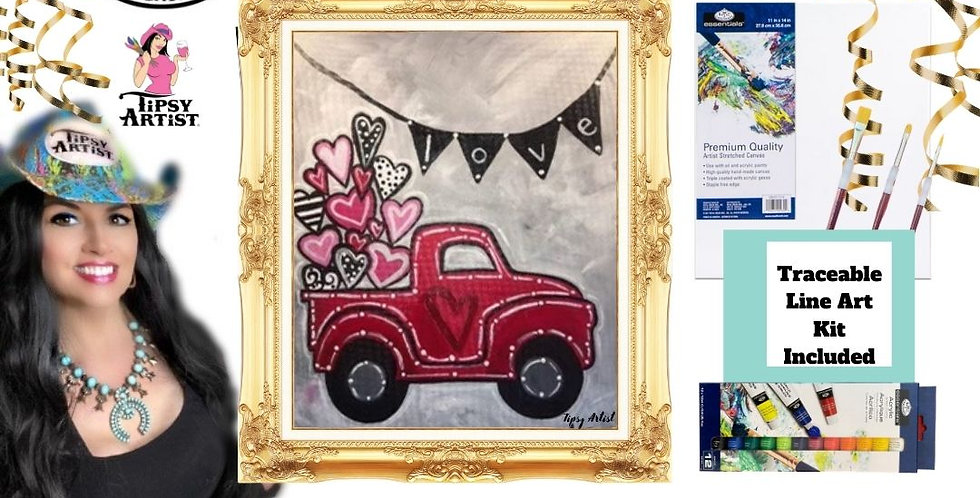 Love Hearts Pickup Truck Painting Kit
