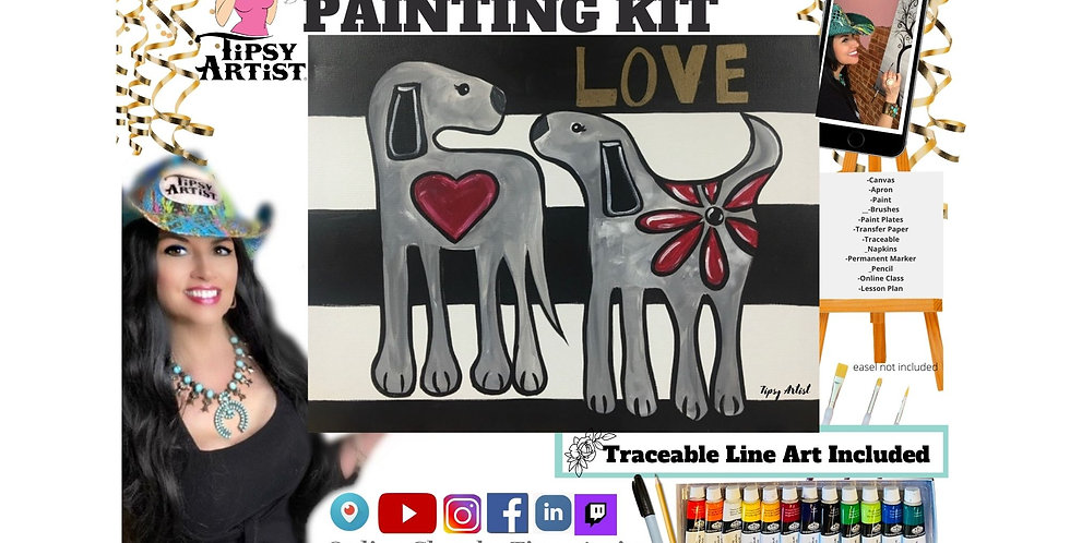 Puppy Love Forever ~ Painting Kit