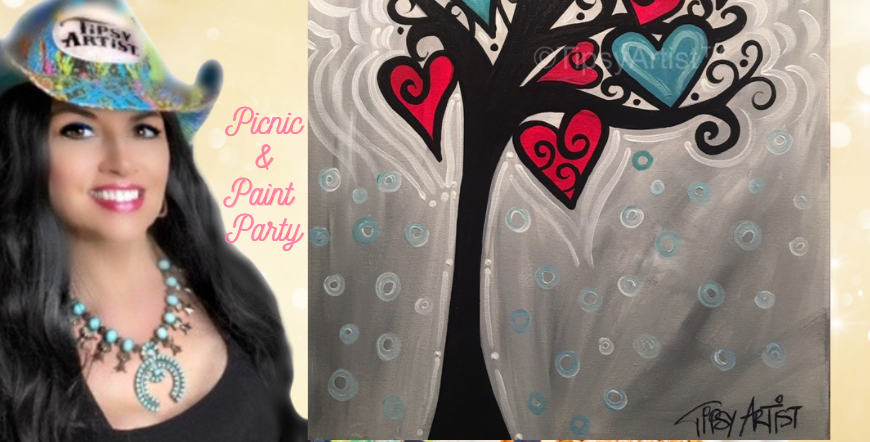 2/13 Private Table Picnic Paint Party~ Over 200 Painting Choices