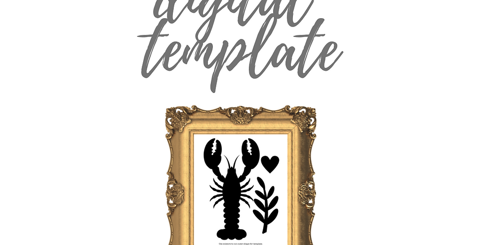 I'm Your Lobster Digital Template Pack