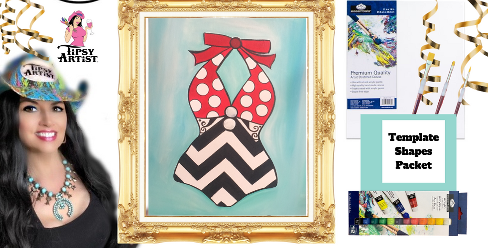 Swimsuit Circa 1950~ Painting Party Pack