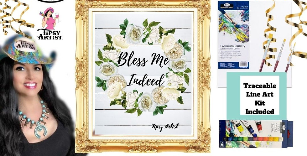 Bless Me Indeed Wreath ~ Painting Kit