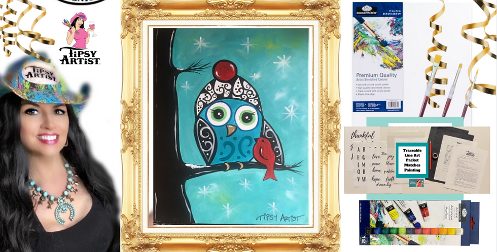 Winter Bird Buddies Painting Kit ~ Painting Party Gift