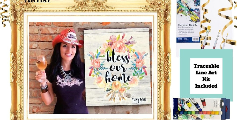 Bless Our Home Wreath ~ Painting Kit