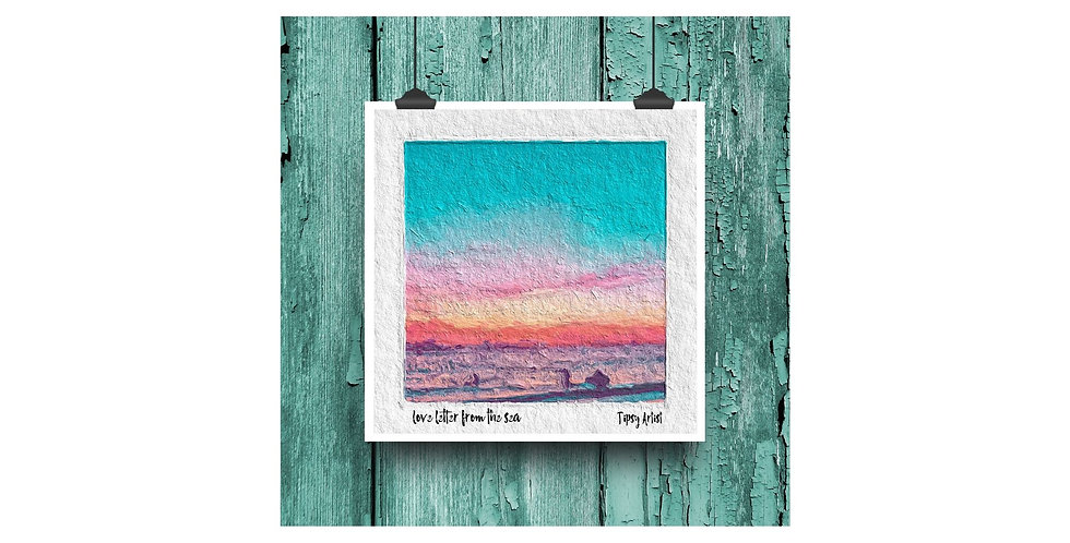 Love Letter from the Sea ~  6 x 6  Digital Print