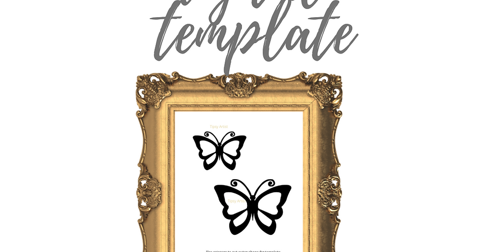 Butterflies Front Simple (B)  Template Pack