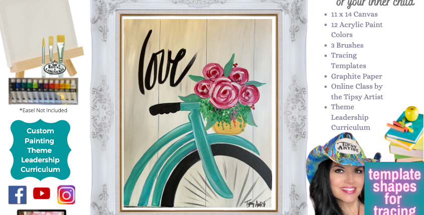 Bike Ride ~ Painting Party Pack