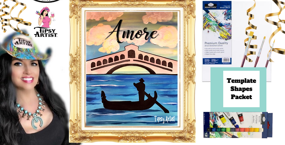 Venice Rialto Bridge ~ Painting Party Pack