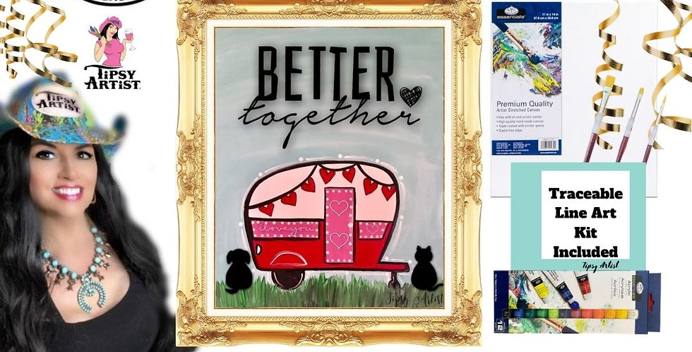 Better Together Camper ~ Painting Kit