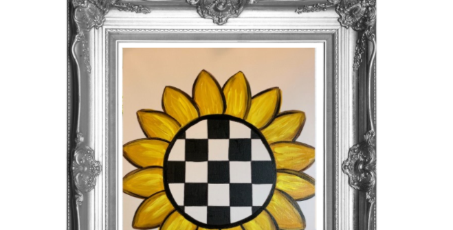 Courtly Check Sunflower Template Pack with Online Video