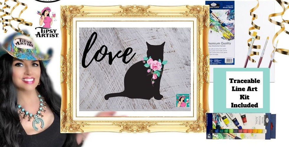 Love Cat ~ Painting Party Kit