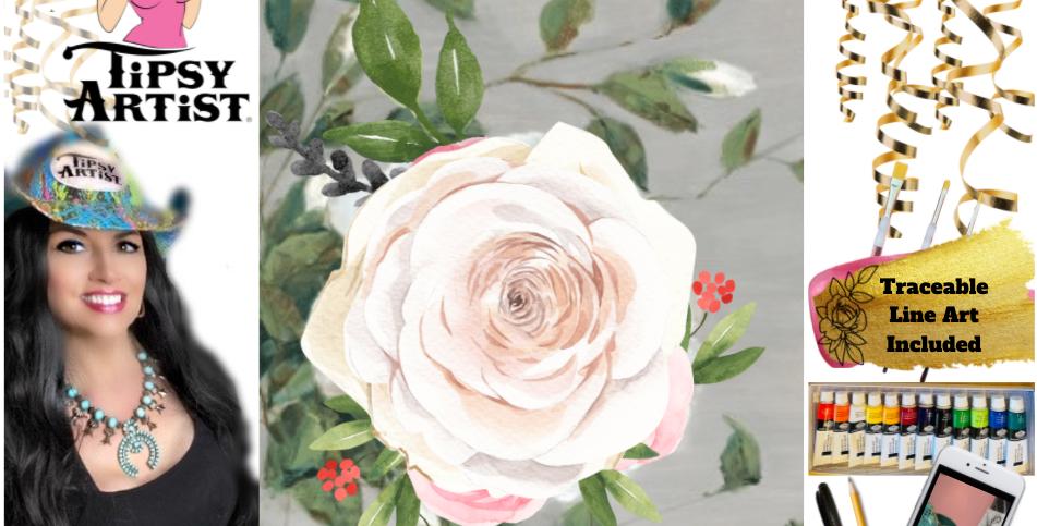 White Rose of Strength ~ Painting Kit
