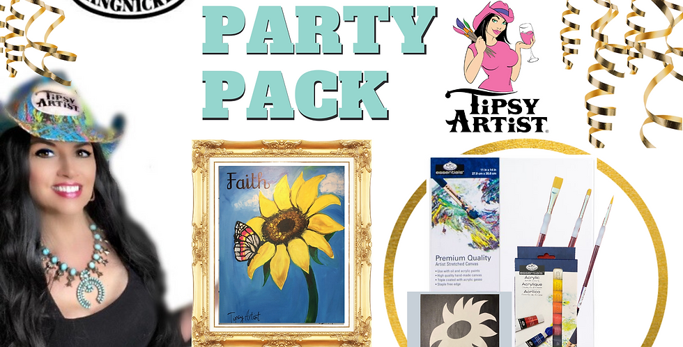 Faith Sunflower with Butterfly Painting Party Pack