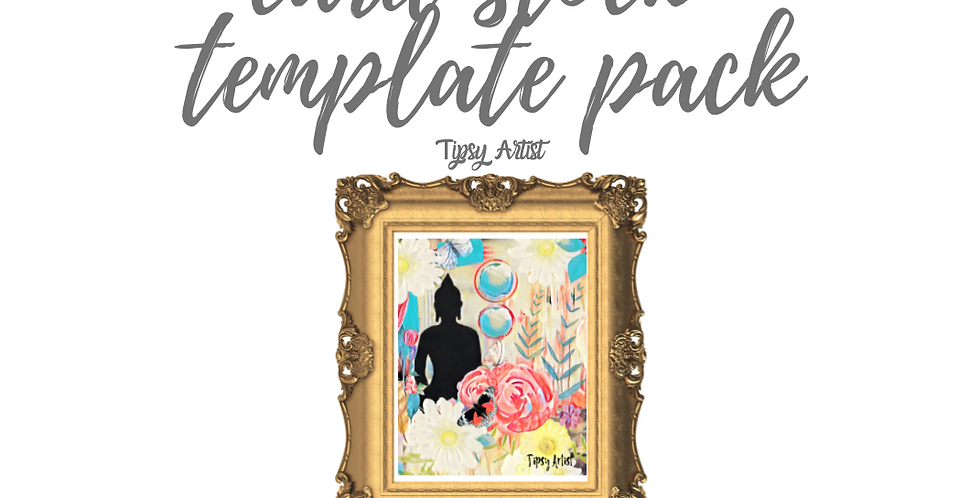Buddha Flowers of Peace Template Pack with Online Video