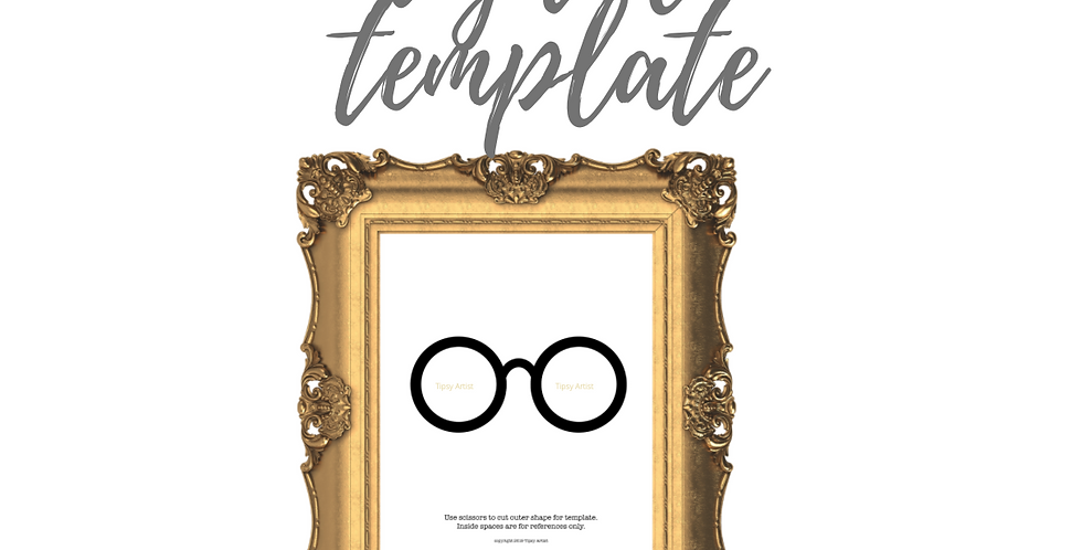 Round Glasses Template Pack