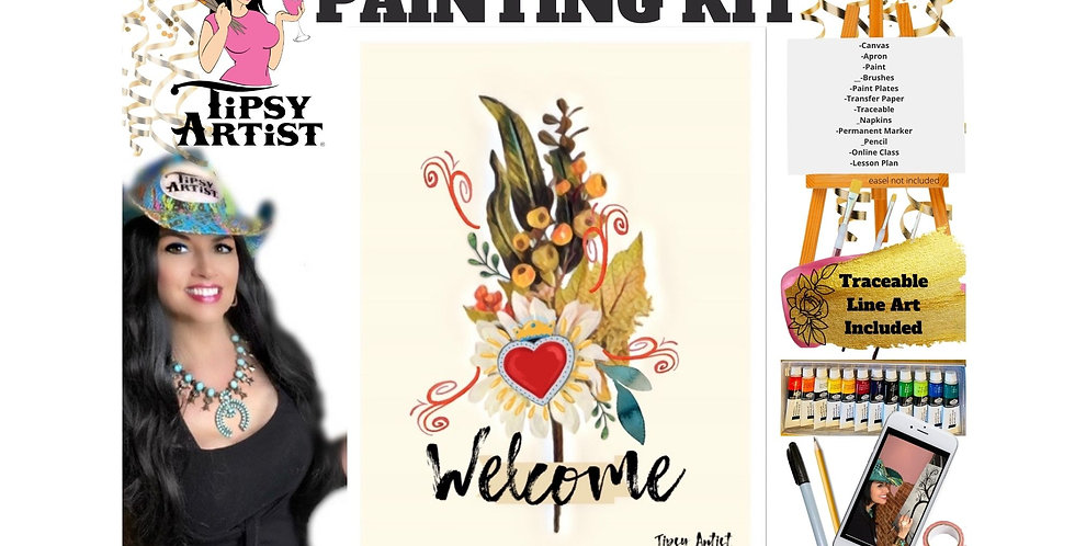 Welcome Heart Bouquet ~ Painting Kit