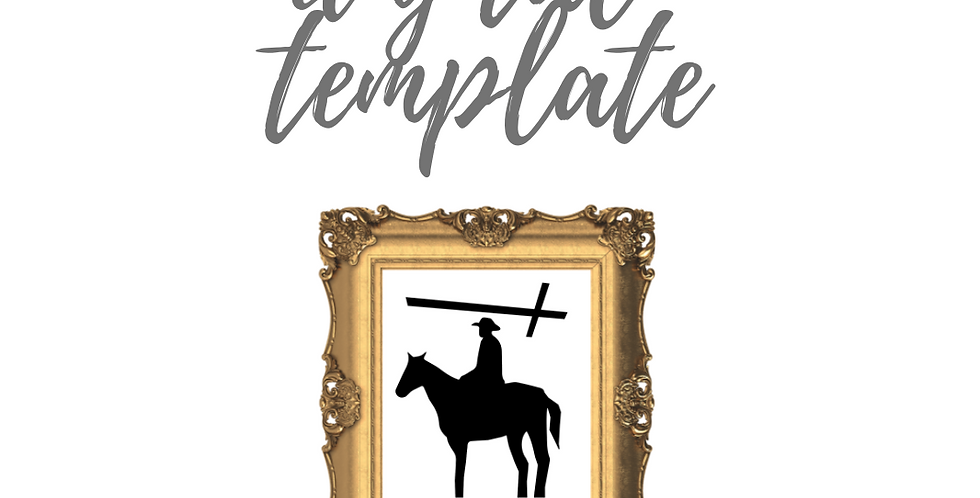 Cowboy & Cross Template Pack