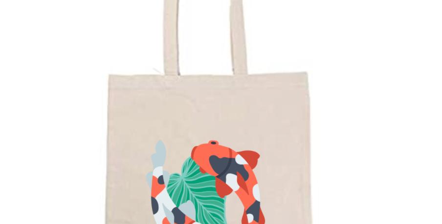 Koi Fish Tote Bag ~ Painting Kit