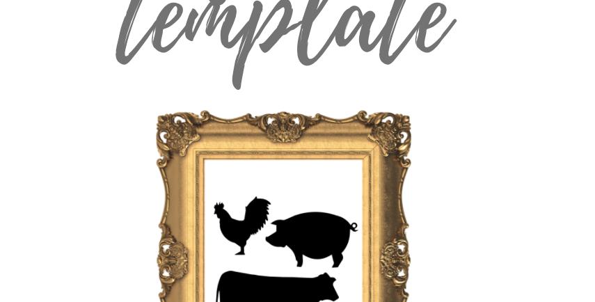 Farm Animals Template