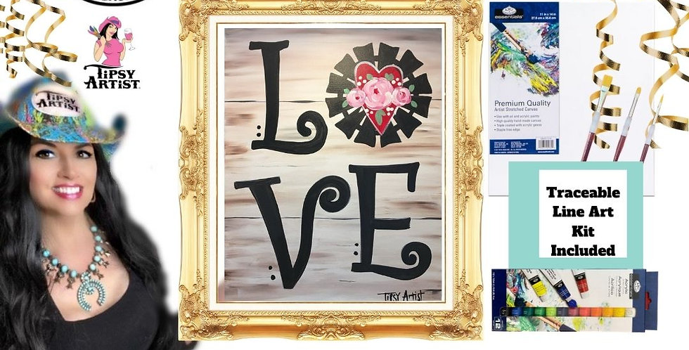 LOVE Windmill with Heart ~ Painting Kit