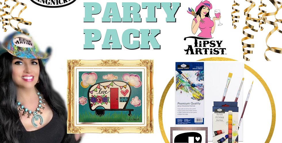 Happy Camper Painting Party Pack
