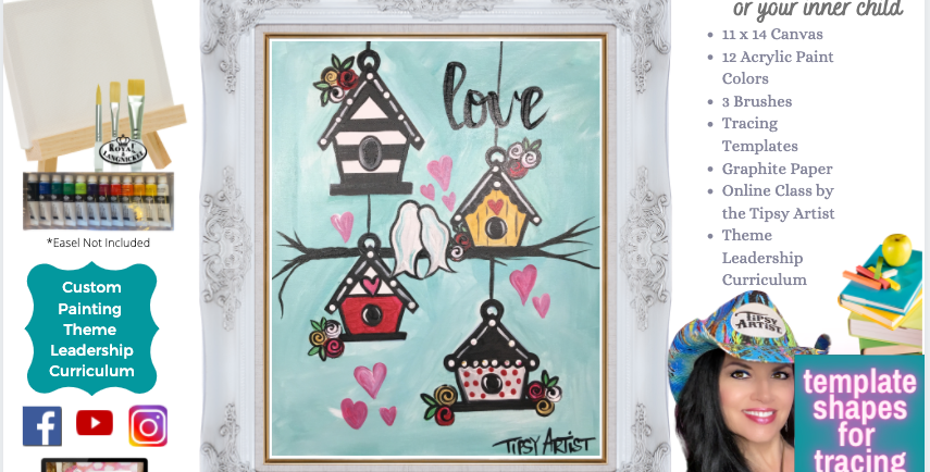 Bird Houses ~ Painting Party Pack