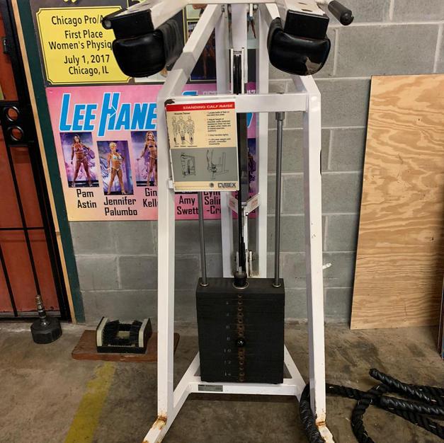 LEGS: Standing Pin Loaded Calf Machine