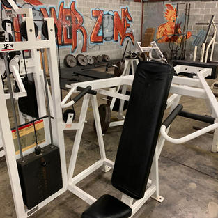 SHOULDERS: Seated Cybex Pin Loaded Selec