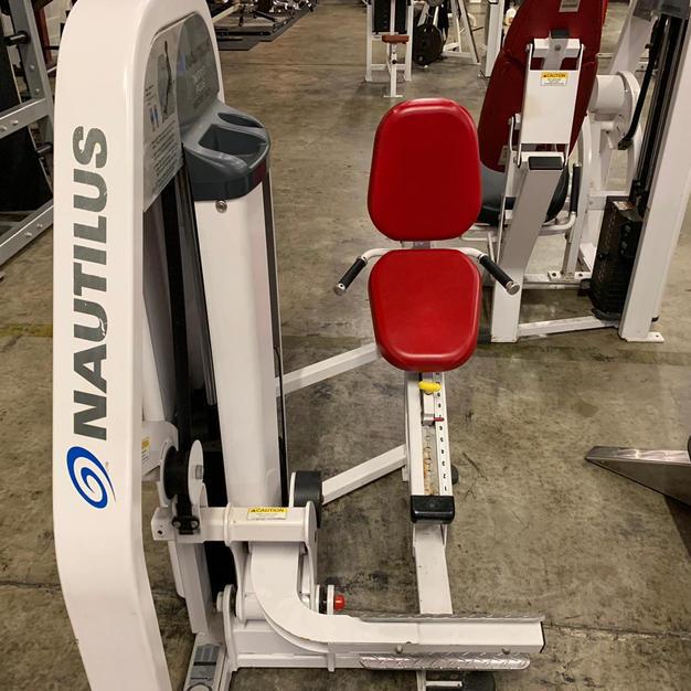 LEGS: Nautilus Pin Loaded Calf Press