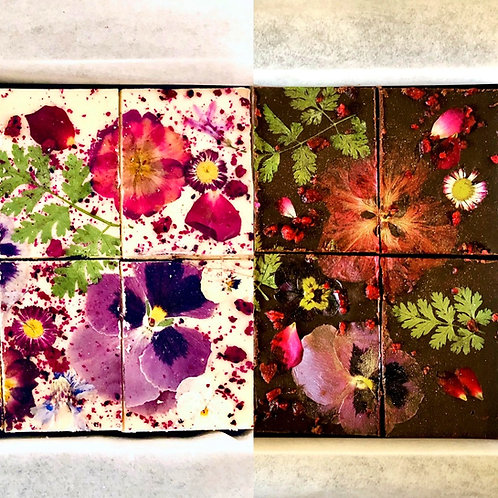 2 FLAVOUR (BOX OF 8) - Floral Brownies