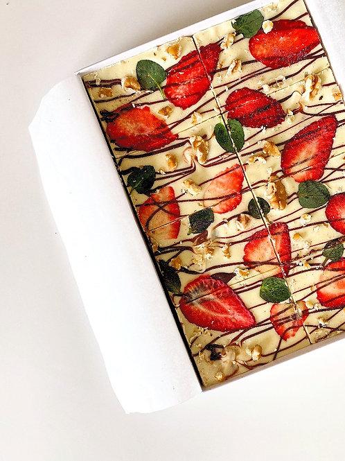 Strawberry & Walnut Fudgy Brownies