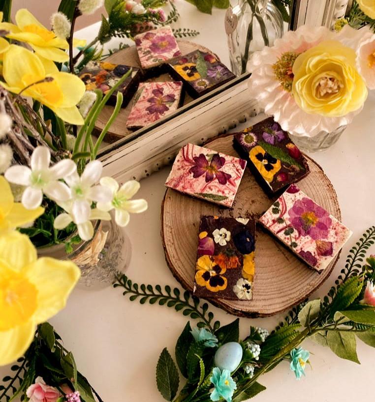 floral brownies gift