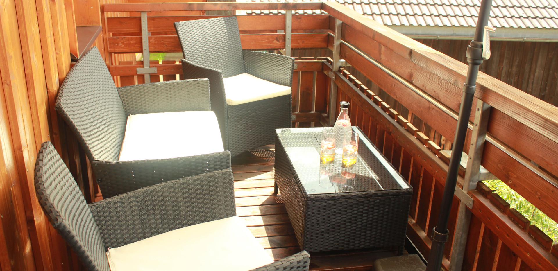 Ausblick genießen vom Balkon