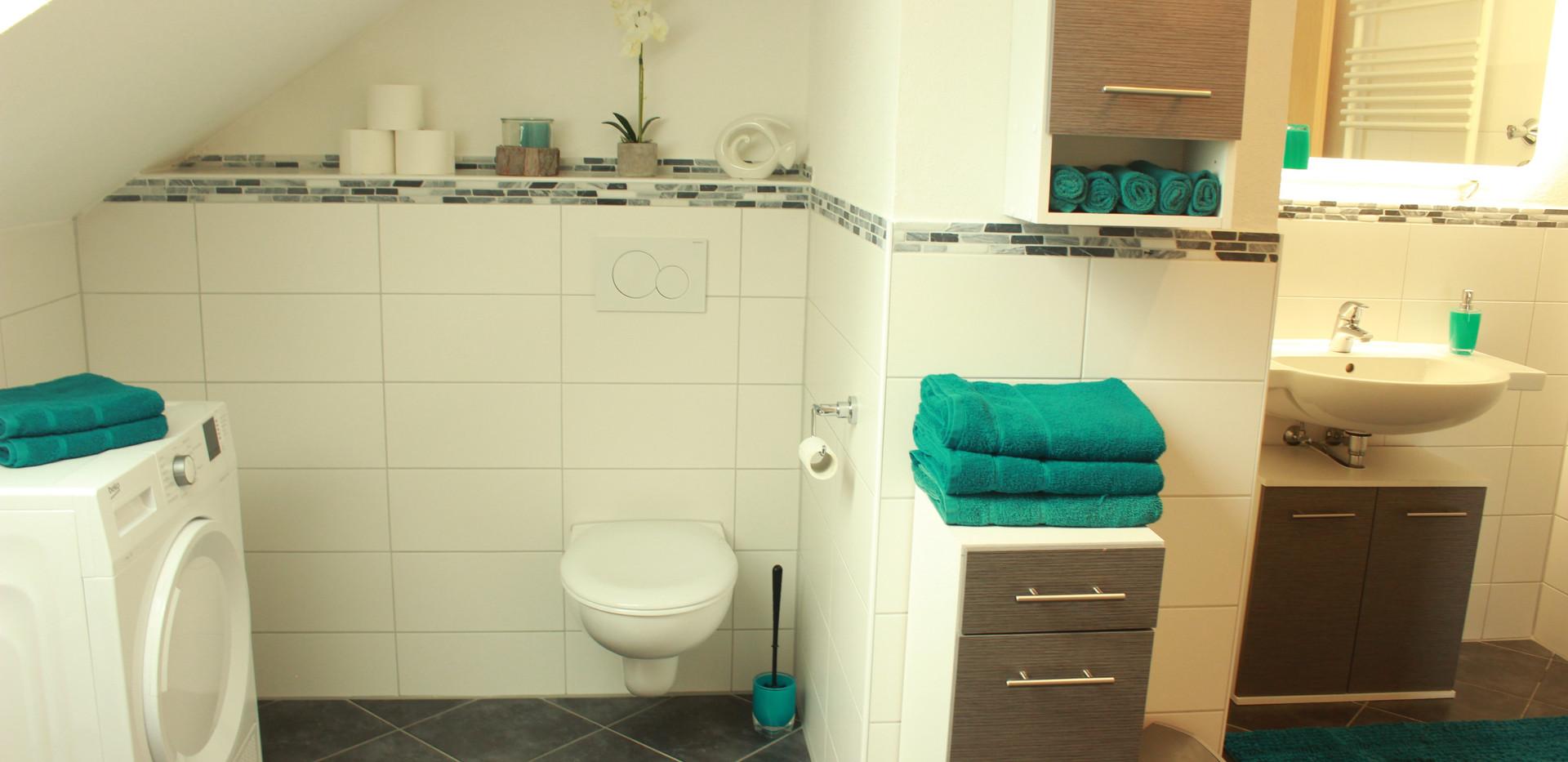 viel Platz im Badezimmer
