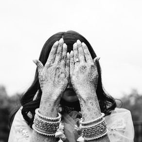 Black & White Indian Engagement Ceremony