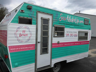DIY Camper Renovation - Rolling Makeup Studio