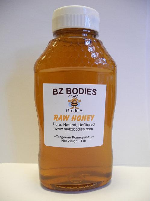 Tangerine Pomegranate Raw Honey