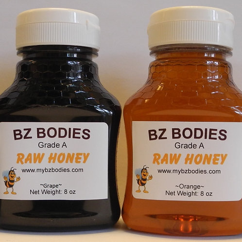 Sampler: 8 oz jars of raw honey