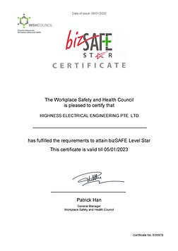 bizSAFE Star certificate - expiring Marc