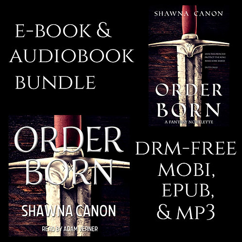 Order-born audiobook and e-book bundle