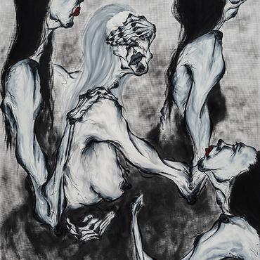 분열(Split)4 , 145.5 x 112.1cm , Oil on canvas , 2019