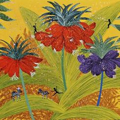 꽃과봄의선율72X60cm캔버스에혼합재료2021